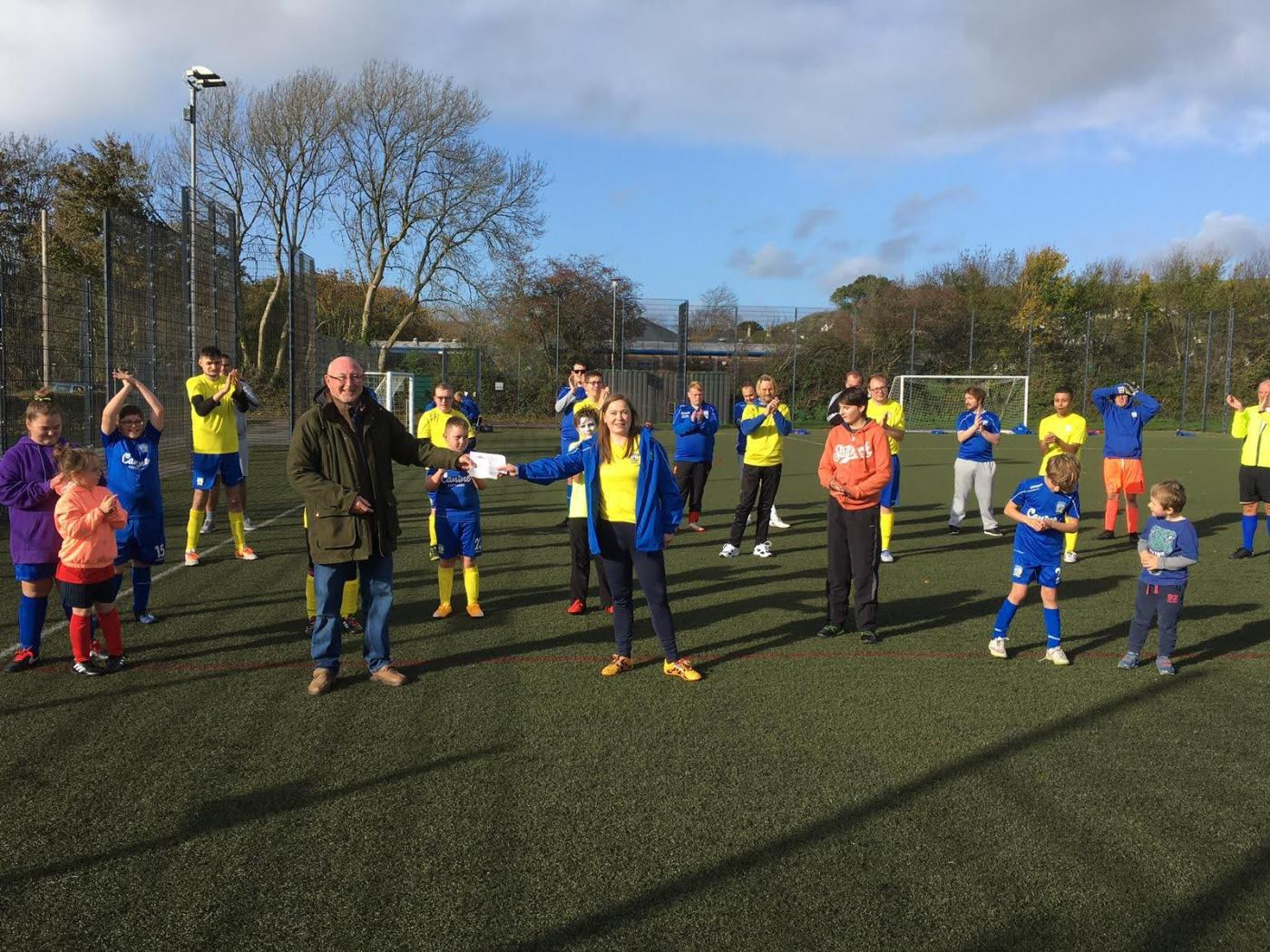 Braunton Football Ability receiving another grant for kit
